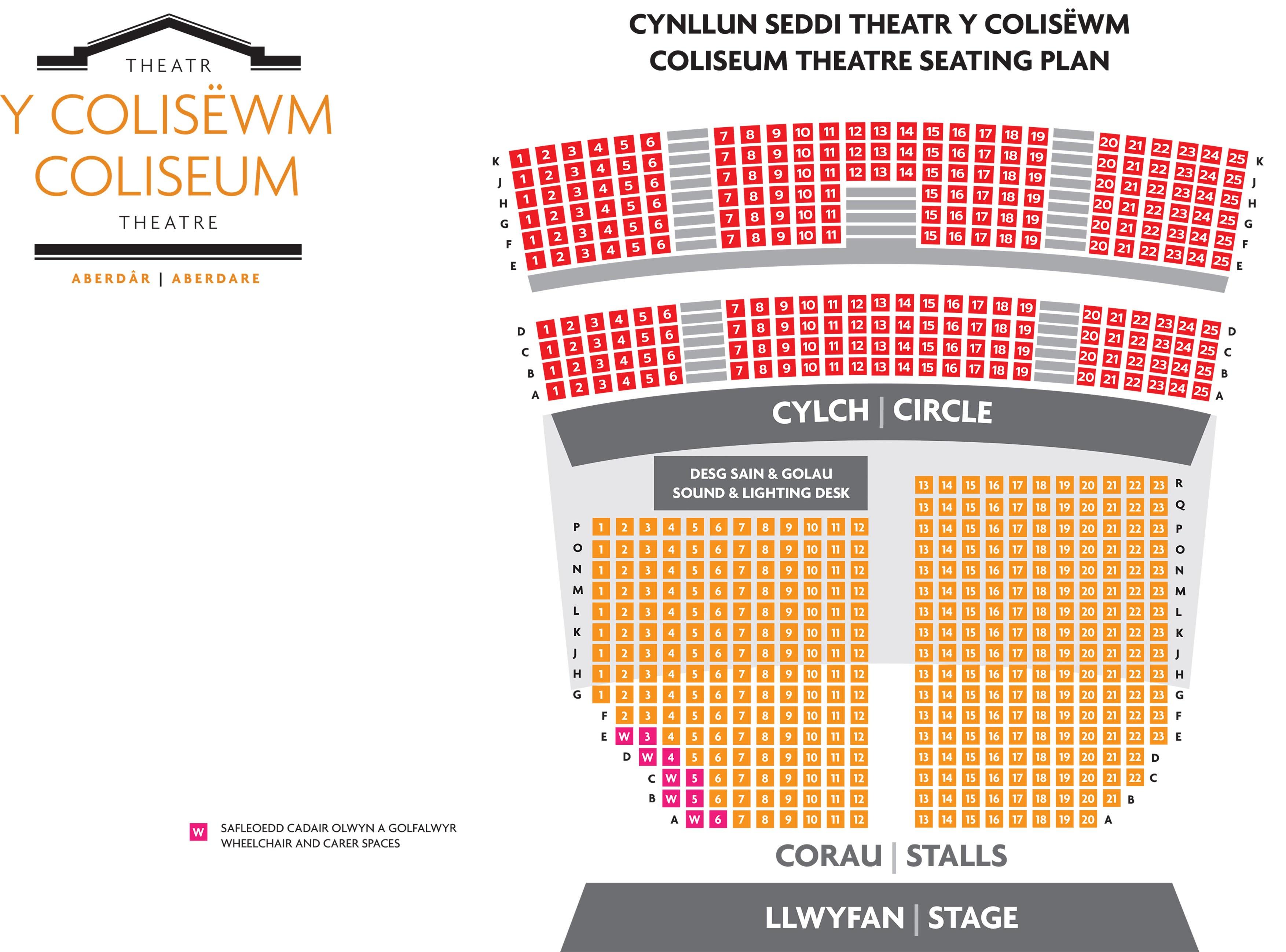 Coliseum Seating Plan 2021