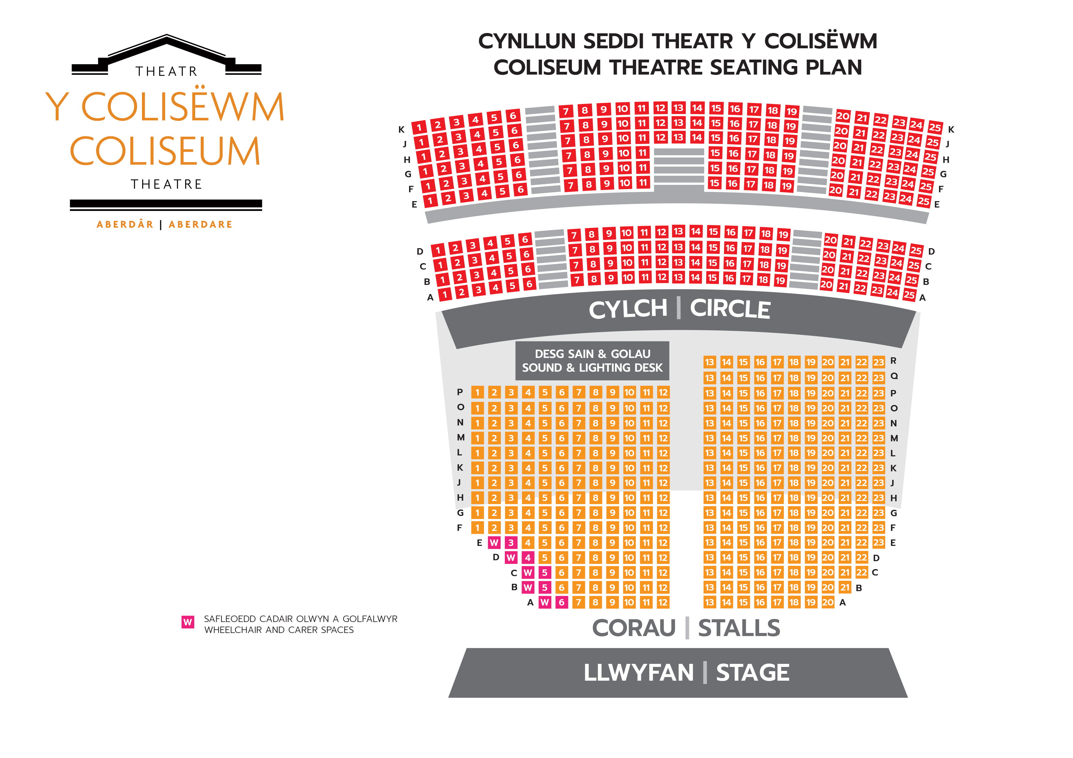 Coliseum Seating Plan Big